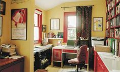 Carmen Callil's study <3 Comfy Dog Bed, Writing Offices, Small Computer, Room Of One's Own, She Sheds, Home Libraries, Study Space, Home Office Space, Virginia Woolf