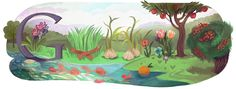 Persian New Year 2011 [Персидский Новый год] /This doodle was shown: 21.03.2011 /Countries, in which doodle was shown: Afghanistan, Azerbaijan, Kazakhstan, Kyrgyzstan, United Arab Emirates, Uzbekistan