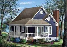 Browse our large selection of house plans to find your dream home. Modifications and custom home design are also available. Custom Home Designs, Custom Homes, Drummond House Plans, Lake House Plans, One Bedroom, Traditional House, Cottage Style, Shed, Outdoor Structures