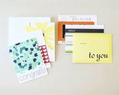 set of 6 occasion cards