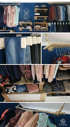 Begehbarer Kleiderschrank Aus Paletten, Palettenmöbel, Schrank Aus  Europaletten, Upcycling Schrank, Schranksystem Diy
