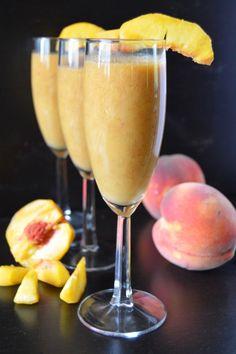 rise and shine peach banana smoothie