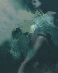 North Sea, Northern Lights, Mountains, Abstract, Nature, Artwork, Travel, Mint, Feelings