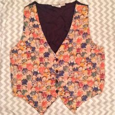 Vintage Vest With Children Mosaic Front