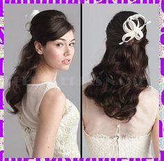Peinado de novia largo