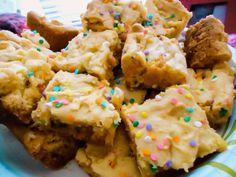 the original cake batter blondies! my favorite recipe.