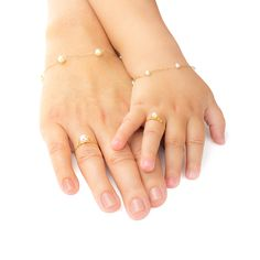 Gold Children's Ring with - Fashion Jewelry - Schmuck Baby Jewelry, Jewelry Tags, Kids Jewelry, Cute Jewelry, Bridal Jewelry, Gold Jewelry, Beaded Jewelry, Jewellery, Gold Necklace