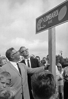 August 7, 1968 in Green Bay Wisconsin. A street was named after Coach Vince Lombardi. #packers #legends #titletown