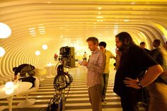 Director Spike Jonze on the set ofHer (2013).