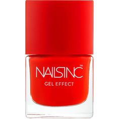 Nails inc Gel Effect Nail Polish, West End 0.27 oz (8 ml) (19 AUD) ❤ liked on Polyvore featuring beauty products, nail care, nail polish, nails, beauty, makeup, nagellack, nails inc nail polish, gel nail care and gel nail color