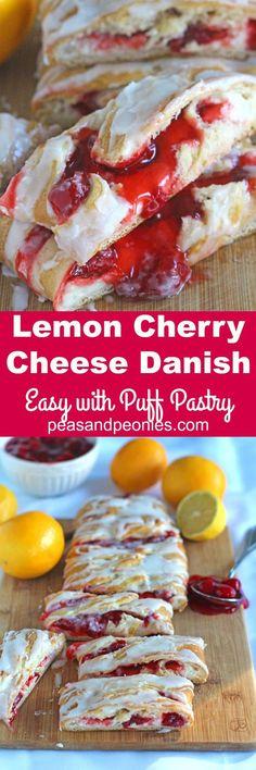 Lemon Cherry Cheese Danish | Recipe