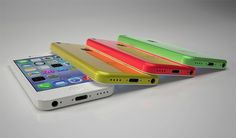 The iPhone 5C colours, white yellow, pink and green schemes - see the best deals at PhonesLimited.co.uk