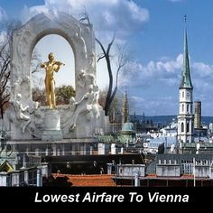 Book cheap flights tickets to Vienna Canada. Visit us to book your tickets right away. Book Cheap Flight Tickets, Lowest Airfare, Cheap Flights, Vienna, Austria, Statue Of Liberty, Travel, Flight Specials, Statue Of Liberty Facts