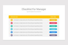 Editable Checklist PowerPoint Template | Nulivo Market Type Setting, Lorem Ipsum, Templates, Marketing, Stencils, Vorlage, Models
