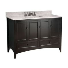 "Foremost BE4821D Berkshire Bathroom Vanity 48"" Espresso Fixture Vanity Single"