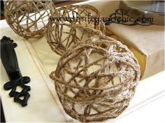 Thrifty and Chic - DIY jute balls