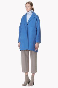 Wool cashmere blend oversized coat