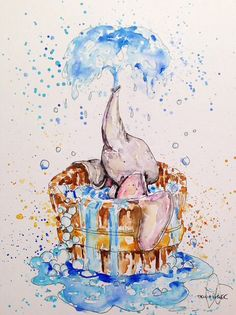 Dumbo watercolor by @triciakibler