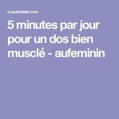 5 minutes par jour pour un dos bien musclé - aufeminin Coach Fitness, Yoga Fitness, Health Fitness, Sporty Girls, Poses, Physique, Gym Workouts, Pilates, Muscles