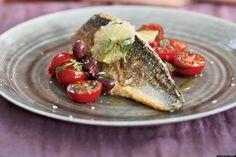 Sea Bass with Tomato/Olive Salsa