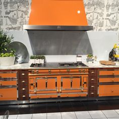 You just can't help but be impressed by one of these. #BlogTourVegas #KBIS2015 #lacornue #range #kitchen #kitchendesign