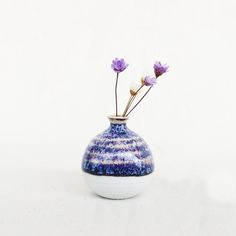 Mini Vase-Light Violet Vase With Lights, Tea Lights, Ceramic Art, Sculpture Art, House Warming, Tea Pots, Glass Vase, Ceramics, Texture