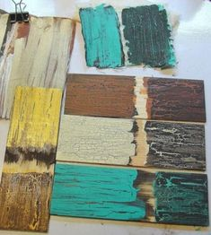 How to paint furniture distressed mirror Ideas Painting On Pallet Wood, Distressed Furniture Painting, Glue Painting, Crackle Painting, Paint Furniture, Crackle Furniture, Furniture Ideas, Rustic Furniture, Furniture Makeover