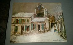 Mid century litho art Utrillo lapin agile vintage kitsch 11 x 14 in Art, Art from Dealers & Resellers, Prints | eBay