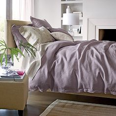 Comfort Wash Solid Linen Comforter Cover - by The Company Store and made in WISCONSIN! :)