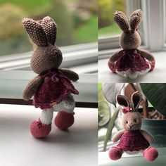 #littlecottonrabbits-hashtag op Instagram • Foto's en video's Knitted Bunnies, Knitted Dolls, Bunny Rabbits, Cat Quilt Patterns, Little Cotton Rabbits, Knitting For Kids, Needlework, Projects To Try, Quilts
