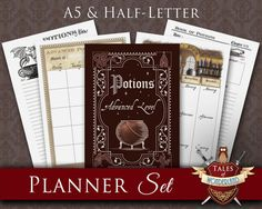 Harry Potter Planner Printable Planner Set  by TalesofWonderland
