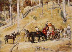 Bailed Up by Tom Roberts - Cross Stitch kit would like to own Australian Painting, Australian Artists, Margaret Preston, Stitch Kit, Cross Stitch Designs, Farm Animals, Impressionist, Brisbane, Needlework