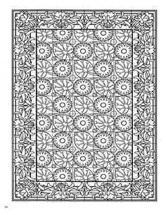 Decorative Tiles Coloring Book, Dover Publications