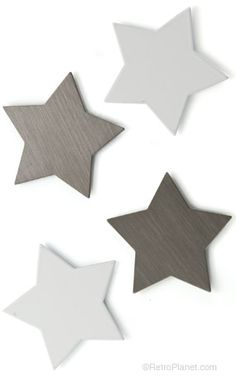 image of Shape Up ® Magnets White Stars