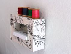 What can you make from raisin boxes?  A DIY Storage Frame