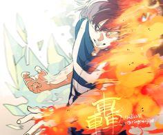 boku no hero academia, my hero academia, shouto todoroki Boku No Hero Academia, Manga Anime, Anime Art, Anime Boys, Super Pouvoirs, Powerful Pokemon, Saitama One Punch Man, Tamaki, Fanart