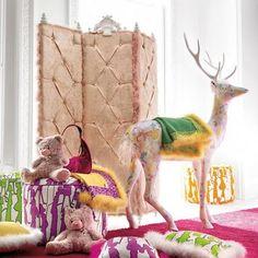 Girls Christmas-Chic Bedroom