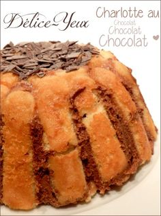 The charlotte CHOCOLATE. The recipe is a Tupperware® recipe, it's very easy to make. For a charlotte (Tupperware® mould): 36 boudoirs 200 g of chocolate … Charlotte Dessert, Easy Desserts, Dessert Recipes, Look And Cook, Tupperware Recipes, Mini Cheesecakes, Mini Foods, Pavlova, Pudding