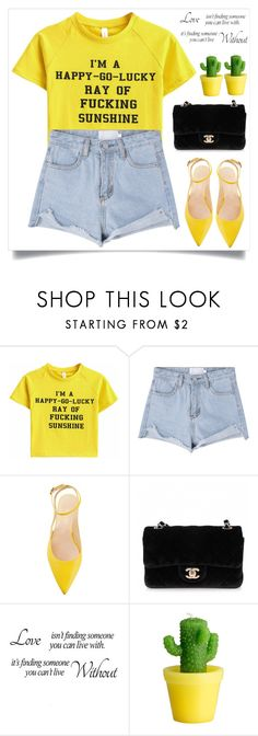 """Happy - Go - Lucky"" by itsybitsy62 ❤ liked on Polyvore featuring Chanel and H&M"