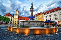 Roland Fountain, Bratislava, Slovakia Around The World In 80 Days, Around The Worlds, Bratislava Slovakia, Old Town Square, Architecture Old, Central Europe, Travel Photographer, Eastern Europe, Prague