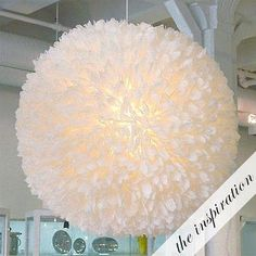 DIY Fluffy Paper Lantern: get the bridesmaids together to craft some gorgeous…