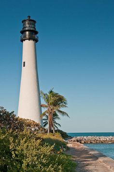 """Cape Florida Lighthouse  - known by locals as """"el farito"""""""