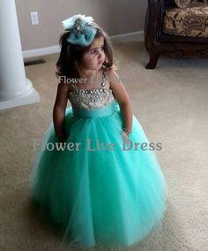 $45 on ebay New Beaded Tulle TuTu Flower Girl Dress Kids Junior Bridesmaid Dresses Wedding #Dress