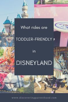 Are you heading to Disneyland with a toddler? This blog posts talks all about what rides are toddler-friendly in Disneyland. Mad Tea Party, King Arthur's Carousel. Dumbo the Flying Elephant. Family travel to Disneyland and California Adventure. #Disney #DisneySMMC #Disneyland