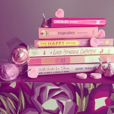 Our #FridayReads are pretty in #pink. What are reading this weekend?        #bookstack #bookstagram #valentines #romantic #thinkpink #cookbook #pinkbooks #missoni #candy #chocolate #hearts #roses #lovebooks