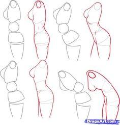 Anatomy Drawing Tutorial Drawing Tutorials When Drawing People Drawing Skills, Drawing Techniques, Drawing Tips, Drawing Sketches, Art Drawings, Sketching, Drawing Poses, Posture Drawing, Drawing Ideas