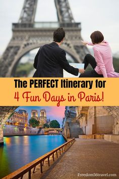 You need this perfect Paris Itinerary! Whether it's your first time or 21st time, these things to do in summer and winter will make your vacation in Paris the perfect time! #4days #paris #firstime #itinerary #thingstodo #winter #spring Europe Travel Guide, Europe Destinations, Travel Guides, 4 Days In Paris, Paris France Travel, Paris Itinerary, Visit France, Famous Places, Cool Places To Visit