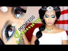 Princess Jasmine makeup and hair tutorial