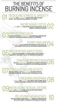 Benefits of burning incense