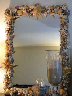 shell mirror. Great for that touch of the beach!